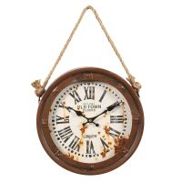 Old Town Ships Wall Clock 28cm