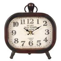 Old Town Metal Clock 23cm