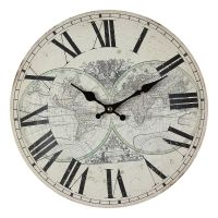 Map Wall Clock 28cm