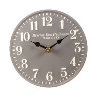 Standing Metal Clock - grey 15cm