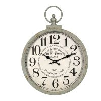 Metal Wall Clock Rust 35cm