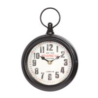 Wall  Pocket Clock - Black  23cm