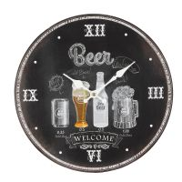 Wall Clock Beer 28cm