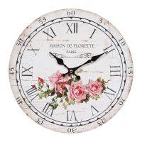 Wall Clock Rose 28cm