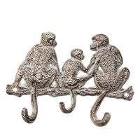 Cast Iron Hooks - 3 Monkeys