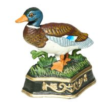 Cast Iron Duck Door Stopper 17cm