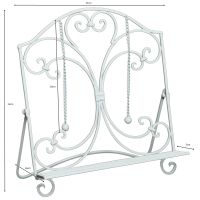 Iron Book Holder - White 33cm