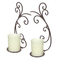 Candle Sconce Pair - Black 33cm