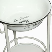 Wash bowl with round stand