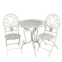 Grey Table & 2 Chair Set