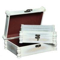 White Wooden Box Set