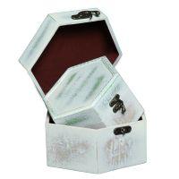 White Wooden Hex box Set