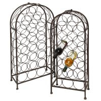Bottle Rack Set 93 & 85cm - Antq Brown