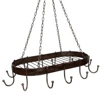 Iron Pan Hanger - Antq Brown 57cm