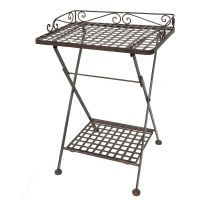 Folding Table - Antq Brown 69cm