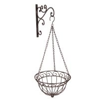 Hanging Basket - Antq. Brown