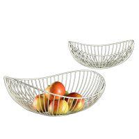Fruit Bowl - White Pair 38cm