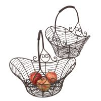 Basket Set - Atq Brown 38cm