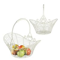 Basket Set - Atq White 38cm