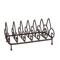 Plate Stand - Antq Brown 25cm